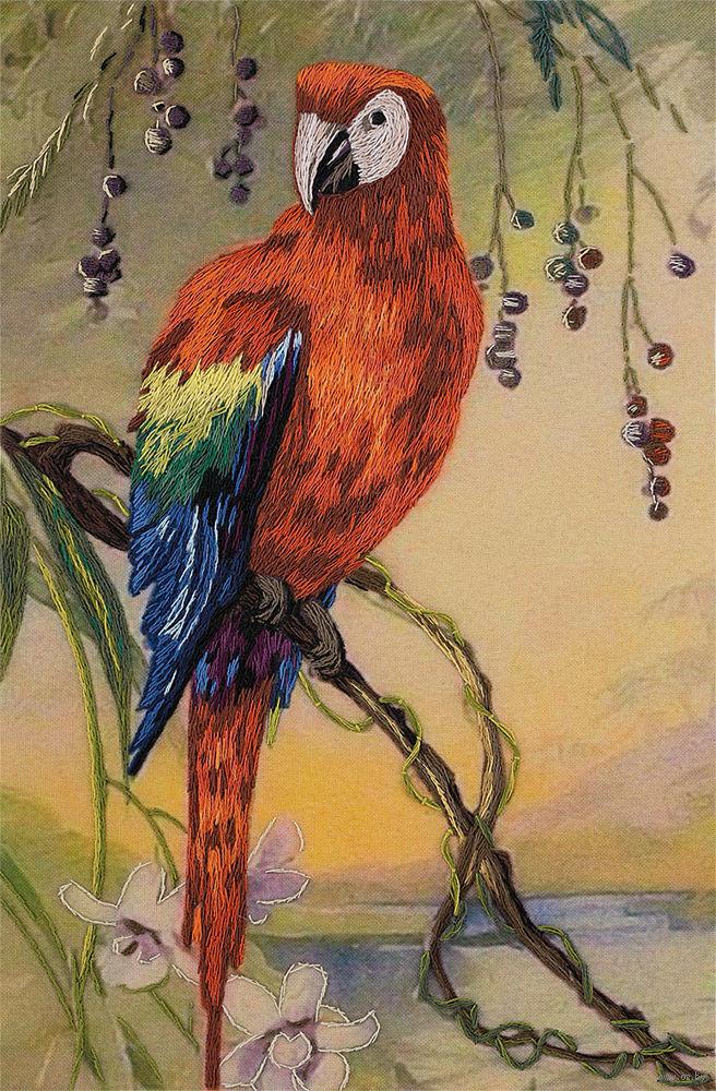 Картина попугая ара