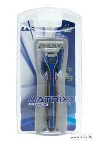 Станок для бритья LEA Matrix3 Titanium (+ 1 кассета)