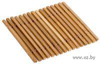 Подставка под горячее бамбуковая (180х180 мм)
