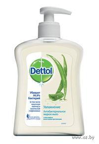 """Антибактериальное жидкое мыло DETTOL """"Увлажнение"""" с алое вера и молочными протеинами (250 мл)"""