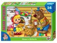 """Пазл Maxi """"Маша и медведь. В гостях у сказки"""" (16 элементов)"""