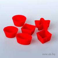 Набор форм для выпекания силиконовых, 6 шт. в ассортименте (3,3-3,4/2,5 см)