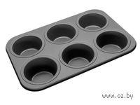 Форма для выпекания кексов металлическая с антипригарным покрытием (38х26х5 см)