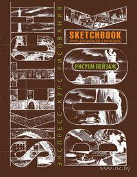 SketchBook. Визуальный экспресс-курс по рисованию. Пейзаж (темно-коричневый)