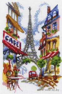 """Вышивка крестом """"Уютный уголок Парижа"""""""
