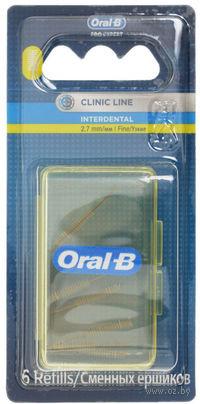 Сменные ершики для межзубной щетки ORAL-B Interdental (цилиндрические)