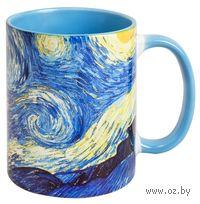 Кружка Ван Гог Звездная ночь (387, голубая)
