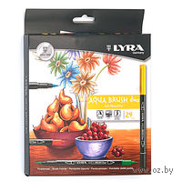 "Фломастеры ""LYRA Aqua Brush Duo"" (24 шт)"
