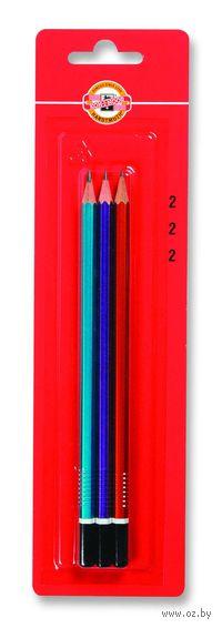 Набор чернографитных карандашей KOH-I-NOOR 1672 (3 шт; твердость: HB)