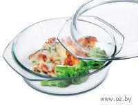 Кастрюля стеклянная круглая (2,0 л)