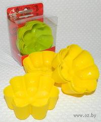 Набор форм для выпекания силиконовых (6 шт, 7*7*2,5 см, арт. SE-444)