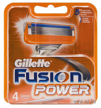 Кассета для станков для бритья Gillette FUSION Power (4 штуки)