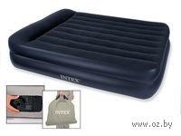 Матрас надувной с подголовником (157*203*47 см, пластик) со встроенным электронасосом (220-240 Вт)