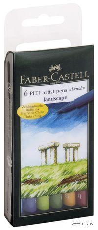 """Набор художественных ручек """"Pitt Artist Pen"""" (цвет: натуральные оттенки; 6 шт.)"""