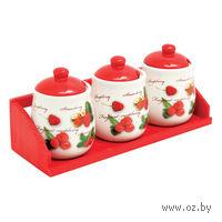 Набор банок для сыпучих продуктов керамических (3 шт. по 350 мл)