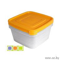 """Набор контейнеров для продуктов """"Унико"""" (3 шт. по 450 мл)"""