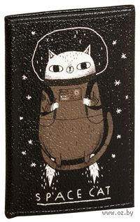"""Обложка на паспорт """"Космо-кот"""""""
