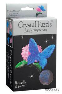 """Пазл-головоломка """"Crystal Puzzle. Бабочка голубая"""" (38 элементов)"""