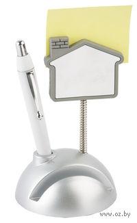 """Подставка под визитки с ручкой и держателем для записок """"Домик"""""""