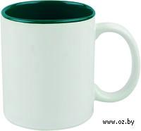 Кружка (320 мл, цвет: белый, зеленый)