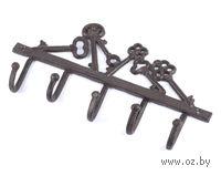 """Вешалка настенная металлическая """"Ключи"""" (5 крючков; 25,5 см; арт. 10718307)"""
