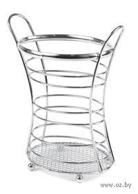 Подставка для столовых приборов металлическая (14х10х19 см)