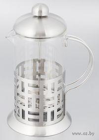 Кофейник с прессом, стекло/металл, 800 мл (арт. YM-014/800)