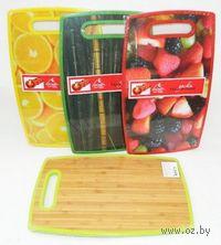 Доска разделочная бамбук/пластмасса (23*37*1,3 см, арт. HH2337TB)