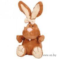 """Мягкая игрушка """"Кролик коричневый сидячий"""" (23 см)"""