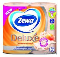 """Туалетная бумага Zewa Deluxe """"Персик""""(4 рулона)"""