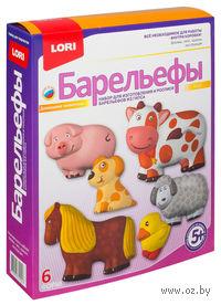 """Барельеф гипсовый """"Домашние животные"""""""