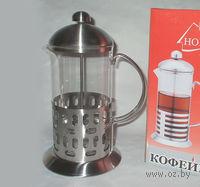 Кофейник с прессом, стекло/металл, 1000 мл (арт. YM-034/1000)