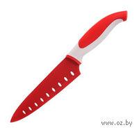 Нож металлический с антибактериальным покрытием с пластмассовой ручкой