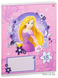 """Тетрадь в клетку """"Princess"""" 18 листов (арт. D3593/5)"""