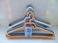 Набор вешалок для одежды пластмассовых тонких (3 шт, 42,5 см, арт. 9090239)