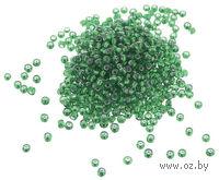 Бисер прозрачный с серебристым центром №27 (светло-зеленый; 8/0)