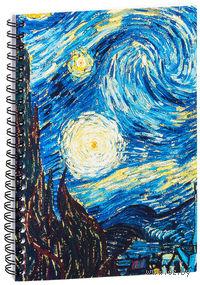 """Блокнот в клетку """"Ван Гог. Звездная ночь"""" A5 (387)"""