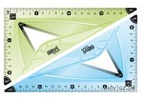 Треугольник 2 в 1 (21 см.; 60  + 45 )