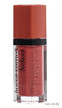 """Помада-флюид для губ """"Rouge edition velvet"""" (тон: 12, темно-персиковый)"""