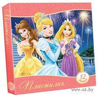 """Пластилин """"Disney. Принцессы"""" (12 цветов)"""