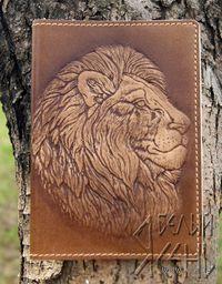 Обложка на паспорт Лев
