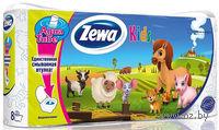 """Туалетная бумага Zewa Deluxe """"Kids""""(8 рулонов)"""