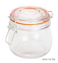 Банка для сыпучих продуктов стеклянная с клипсой (500 мл; арт. 6502)
