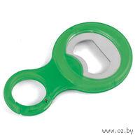 Открывалка для бутылок с карабином (зеленая)