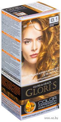 Крем-краска для волос (тон: 8.1, карамельный блонд, 2 шт)