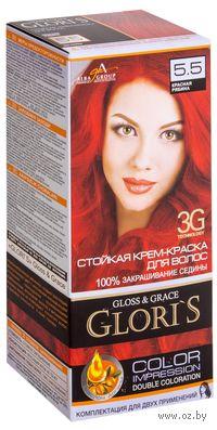 Крем-краска для волос (тон: 5.5, красная рябина, 2 шт)