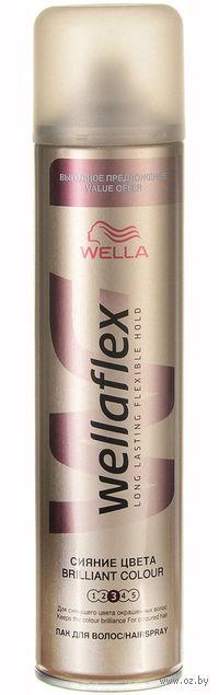 """Лак WELLAFLEX """"Сияние цвета"""" сильной фиксации (400 мл)"""