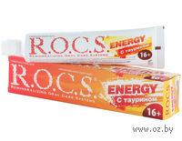 Зубная паста `R.O.C.S. Energy 16+ с Таурином (74 гр.)