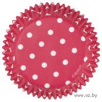 """Набор форм бумажных для выпекания кексов """"Красный горох"""" (75 шт; арт. WLT-415-0148)"""