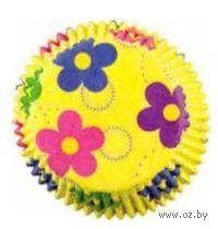 """Набор форм бумажных для выпекания кексов """"Танцующие цветы"""" (50 шт; арт. WLT-415-7812)"""